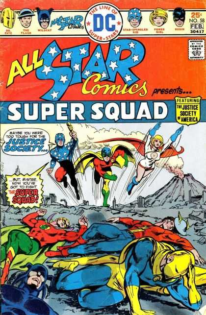 All Star Comics 58 - Super Squad - The Justice Society Of America - Wildcat - The Flash - Power Girl - Mike Grell