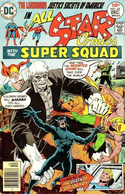 All Star Comics 63 - Dc - The Line Of Superstars - No63 - Dec - Approved By The Comics Code Authority - Richard Buckler