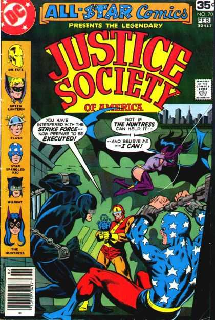 All Star Comics 70 - Desperate Measures - Calls From Beyond - Justice And Bonding - Bound For Glory - Social Judement For All Man Kind