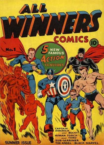 All Winners Comics 1 - Marvel - Marvel Comics - Winners Comics - Super Heroes - Bucky