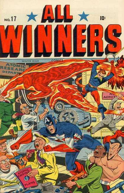 All Winners Comics 17 - Atomic - Engine - Fire - Flying - Research