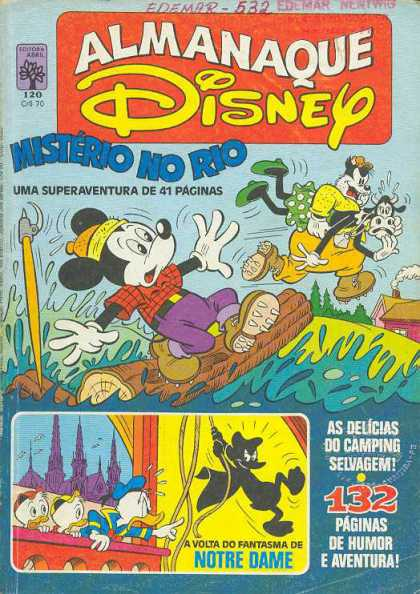 Almanaque Disney 120 - River - Camping - Mickey Mouse - Abduction - Logs