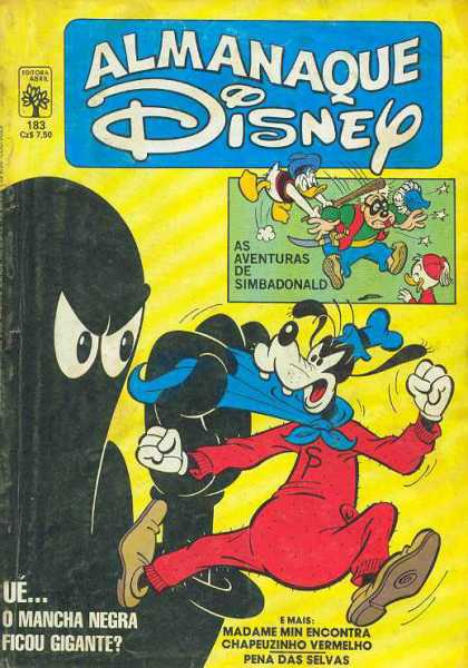 Almanaque Disney 183 - French - Goofy - Black Shadow - Blue Cape - Clobbered Over The Head