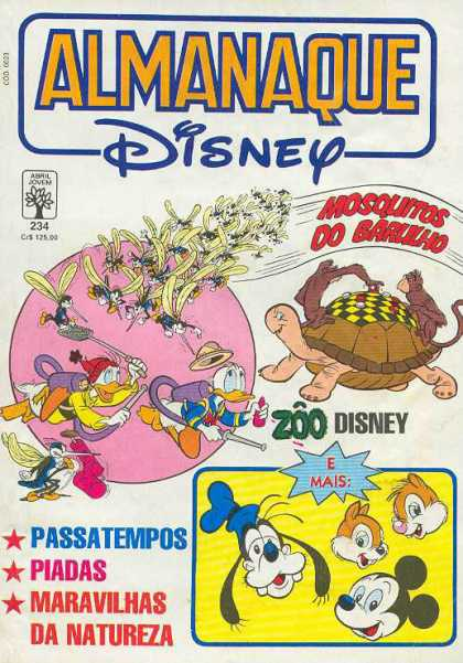 Almanaque Disney 234 - Donald Duck - Goofy - Mickey Mouse - Chipmunks - Daffy Duck