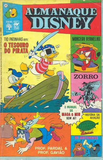 Almanaque Disney 25 - Uncle Scrooge - Donald Duck - Zorro - Blimp - Miniature Airplane Hitting Head