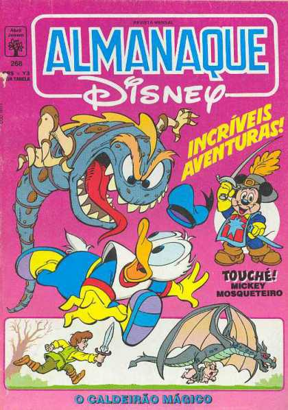 Almanaque Disney 268 - Almanaque - Disney - French Comics - Blue Monster - Three Muskateirs Micky