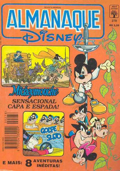 Almanaque Disney 278 - Spanish Comics Adaptations - Mickey Mouse - Minnie Mouse - Disney Comics Collection - Scrooge Mcduck