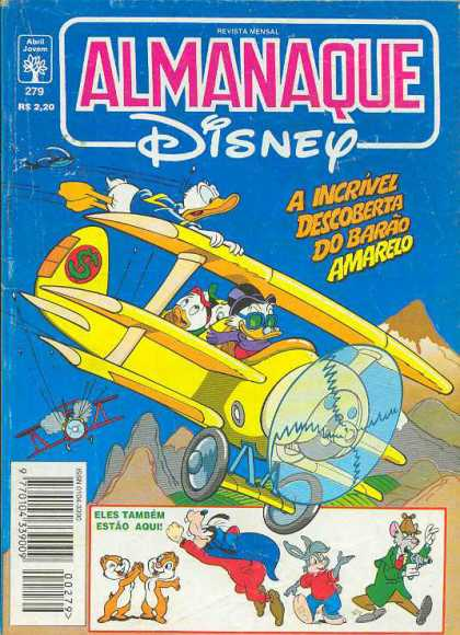 Almanaque Disney 279 - Disney - Spanish - Almanaque - Donald Duck - Airplane