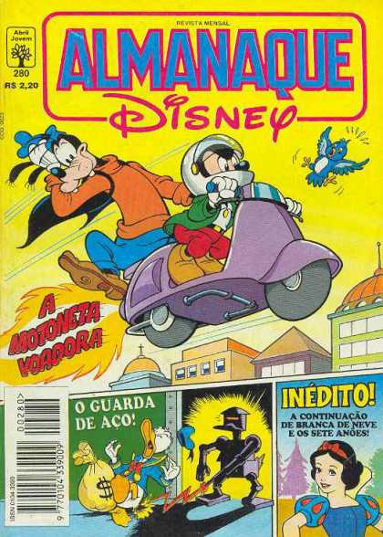 Almanaque Disney 280 - Goofy - Mickey - Bird - Scooter - City