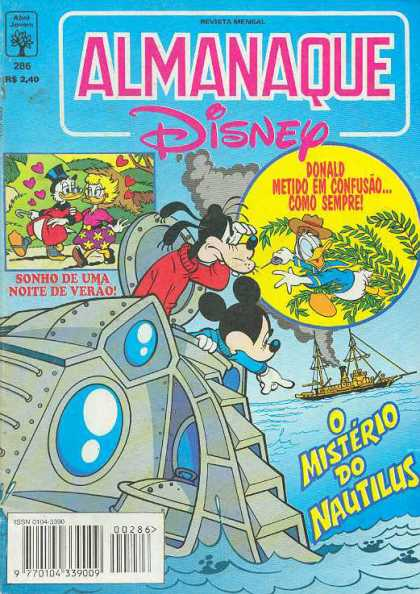 Almanaque Disney 286 - Ship - Boat - Sea - Water - Smoke