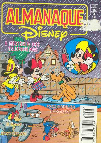 Almanaque Disney 288 - Mickey Mouse - Minnie Mouse - Telephone - Dog - Rain