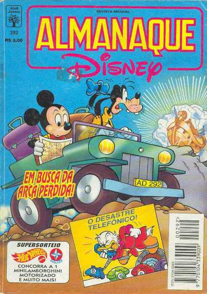 Almanaque Disney 292 - Mickey Mouse - Goofy - Jalopy - Boat - Bags