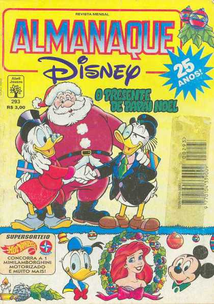 Almanaque Disney 293 - Santa - Scrooge - The Little Mermaid - Mickey Mouse - Donald Duck