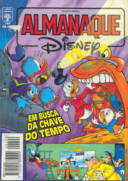 Almanaque Disney 299 - Monster - Donald Duck - Em Busca De Chave Do Tempo - Mickey Mouse - Terrified