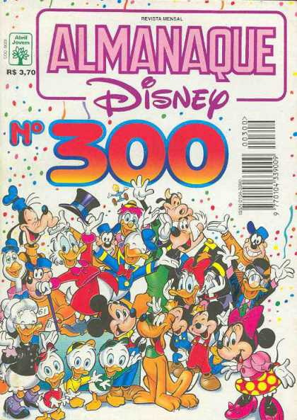 Almanaque Disney 300 - Abril Jovill - Pluto - Mickey Mouse - Gooffy - Donald Duck