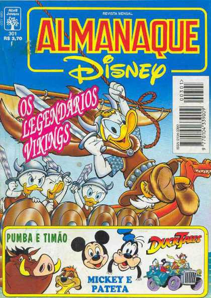 Almanaque Disney 301 - Donald Duck - Pumba - Duck Tales - Vikings - Ship
