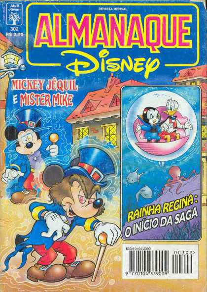 Almanaque Disney 302 - Mickey Mouse - Alter Ego - Mr Hyde - Donald Duck - Submarine