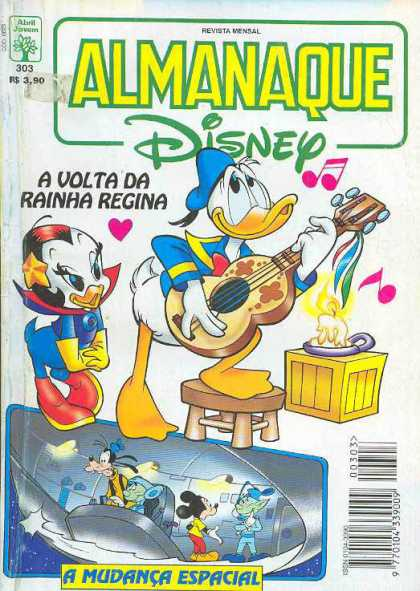 Almanaque Disney 303 - Donald Duck - Mickey Mouse - Goofy - Guitar - Disney