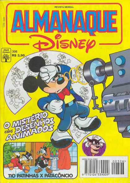 Almanaque Disney 306 - Almanaque - Disney - Spanish - Mickey Mouse - O Misterio Dos Desenhos Animados