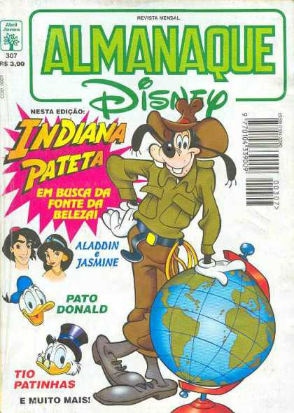Almanaque Disney 307 - Disney - Indiana Jones - Goofy - Donald Duck - Aladdin And Jasmine