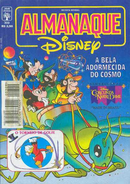 Almanaque Disney 309 - Mickey Mouse - Goofy - Scrooge - Bug - Space Ship