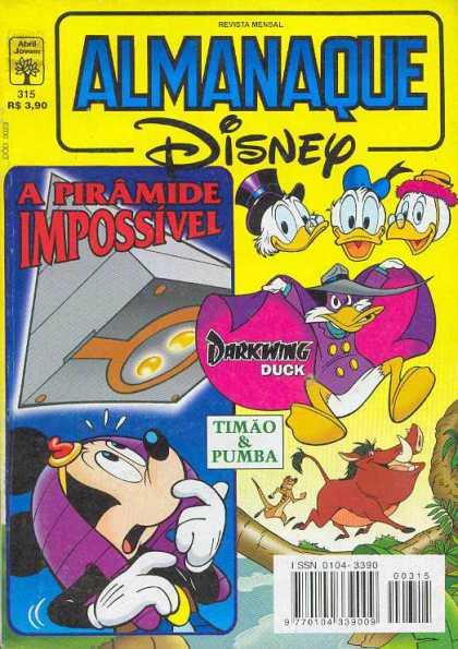 Almanaque Disney 315 - Walt Disney - A Piramide Impossivel - Ducks - Mouse - Timon And Pumba