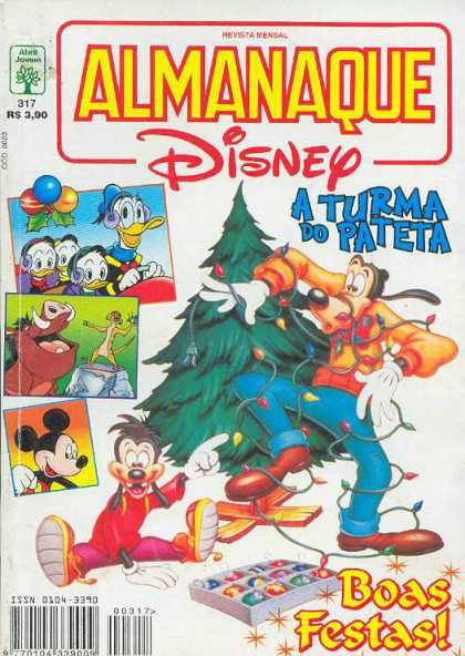 Almanaque Disney 317 - Goofy - Donald Duck - Mickey Mouse - Christmas Tree - Christmas Lights