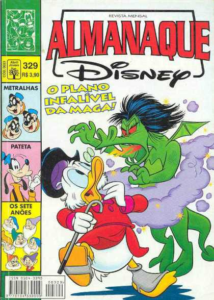 Almanaque Disney 329 - Dragon - Duck - Dwarves - Goofy - Fire