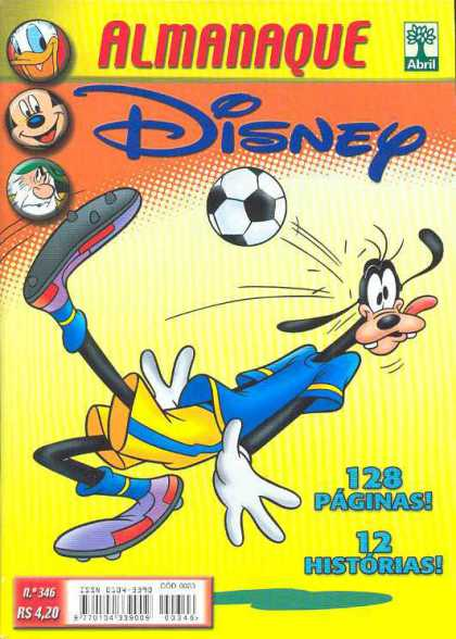 Almanaque Disney 346 - Donald Duck - Mickey Mouse - Goofy - Soccer Ball - Abril