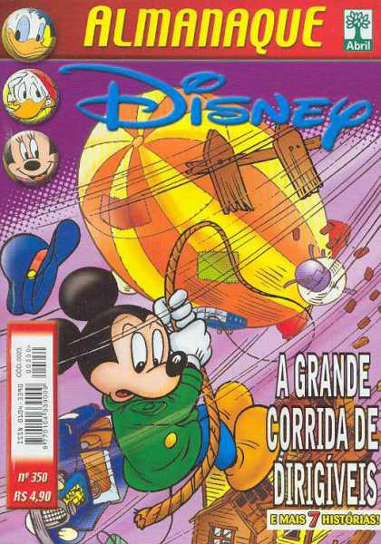 Almanaque Disney 350 - Mickey Mouse - Donald Duck - Blimp - Car - A Grande Corrida De Dirigiveis