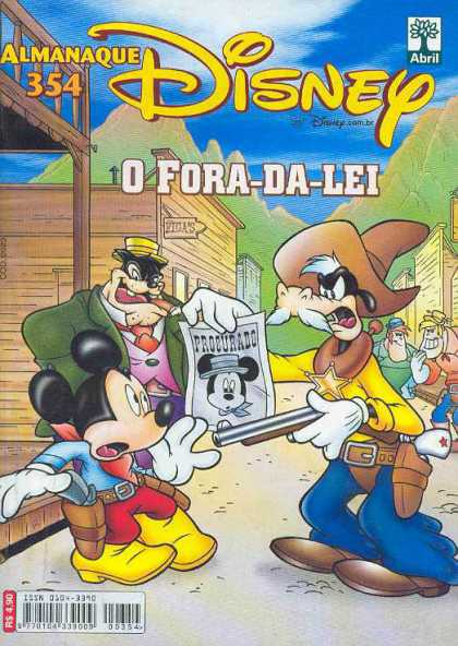 Almanaque Disney 354 - Man With A Gun - Wanted - Cowboy Mickey - Boots - Busted