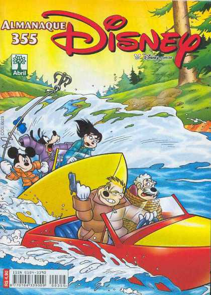 Almanaque Disney 355 - Disney - Mickey Mouse - Goofy - River - Anchor