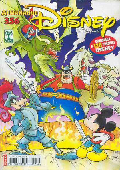 Almanaque Disney 356 - Swords - Flame - Battle - Dragon - Dog