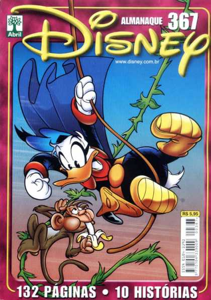 Almanaque Disney 367 - Duck - Monkey - Banana - Vine - Cape