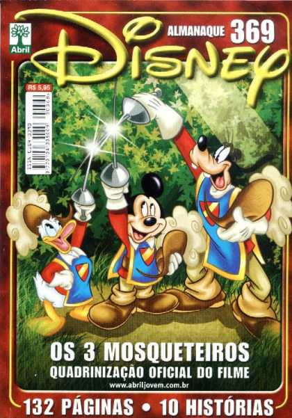 Almanaque Disney 369 - Mickey Mouse - Donald Duck - Goofy - Swords - Os 3 Mosqueteiros