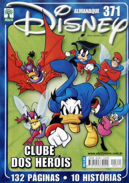 Almanaque Disney 371 - Disney Character Superheroes - Abril - Super Goofy - Super Ducks - Donald Duck