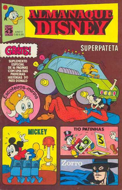 Almanaque Disney 50 - Mickey Mouse - Zorro - Goofy - Scrooge - Donald Duck