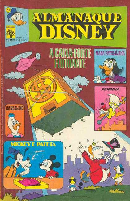 Almanaque Disney 55 - Donald Duck - Helocopter - Bank - Mickey Mouse - Goofy