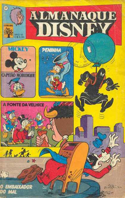 Almanaque Disney 57 - Mickey Mouse - Donald Duck - Mailbox - Goofy - Balloon