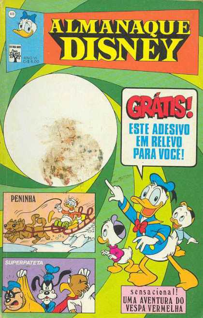Almanaque Disney 60 - Gratis - Sled - Peninha - Dogs - Nephews