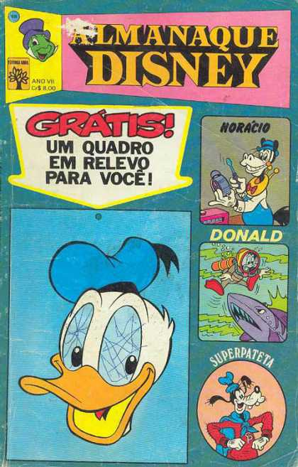 Almanaque Disney 68 - Donald - Goofy - Shark - Water - Blue Hat