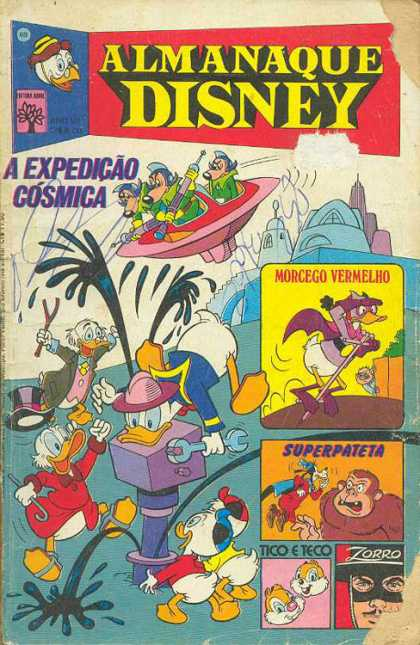 Almanaque Disney 69 - Donald Duck - Gorilla - Pogo Stick - Machine - Oil