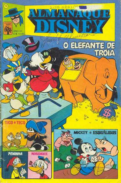 Almanaque Disney 75 - Donald Duck - Scroudge - Elephant - Mickey - Tico U0026 Teco