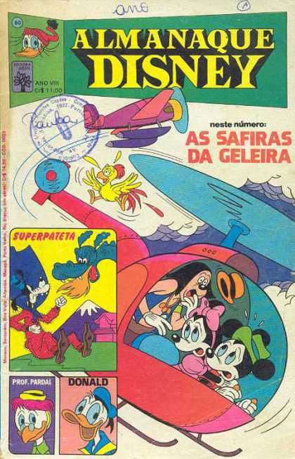 Almanaque Disney 80 - Ano Viii - As Safiras - Da Geleira - Superpateta - Donald