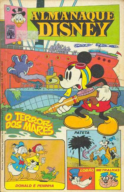 Almanaque Disney 84 - Almanaque Disney - Mickey Mouse - Scrooge - Ship - O Terror Dos Mares