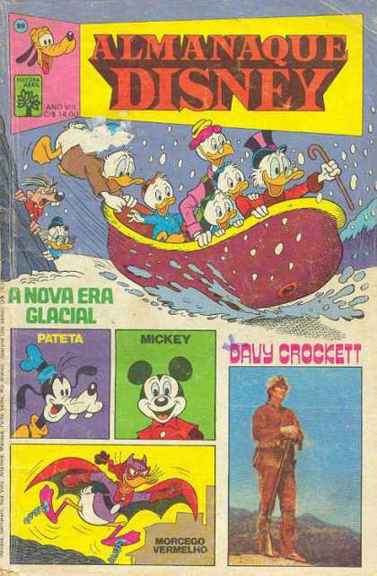 Almanaque Disney 89 - Donald Duck - Goofy - Mickey Mouse - Davy Crockett - Uncle Scrooge