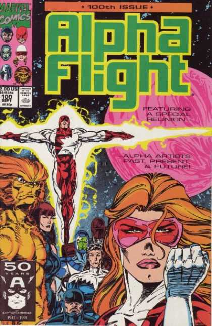 Alpha Flight 100 - Green - Pink - Orange - Planet - Marvel
