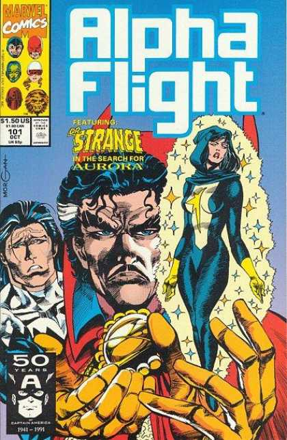 Alpha Flight 101 - Dr Strange - Doctor Stephen Steve Vincent - Master Of The Mystic Arts - Action - Illuminati