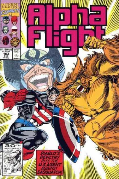 Alpha Flight 103 - Marvel - Superhero - Beast - Face Mask - Captain America
