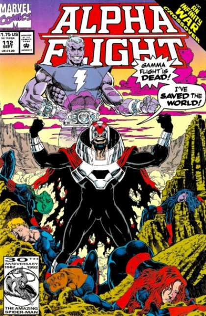 Alpha Flight 112 - Green Valley - Mountains - Sick People - Purple Clouds - Man Is Sky